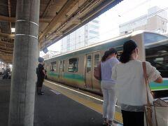 JR我孫子 10:35発   上野行き、常磐線 快速列車。