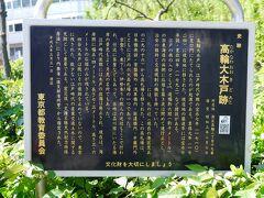 東海道から江戸の南の出入口として設けられた大木戸の跡