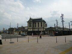 道後温泉駅です。ここだけ急に観光地感がでます。