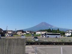 富士山 綺麗に見えたのはこのときだけでした。