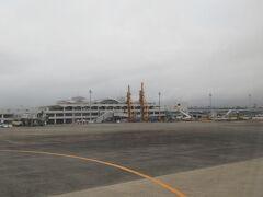 ターミナルビルが見えてきました