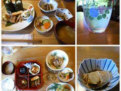 あまいみかんさんは、下の「萩弁当」、akikoさんと私は上の「山菜天むす定食」をお願いしました。山菜天むすおにぎりには、珍しい金時草が入っていました。確か水前寺菜とも。季節の山菜や旬の野菜を使い、素朴ながらも、とても上品な味わいでした。デザートの豆乳ゼリーもしっかりいただきました。
