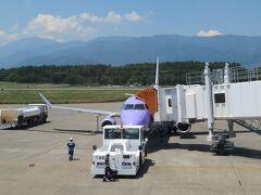 松本空港には2時間滞在しただけで次は新千歳空港に向かいます。