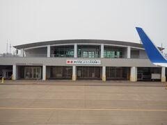 <利尻空港> 到着(∩´∀`)∩ やっぱり飛行機は早いね。 千歳-利尻は、お値段15000円位だったけど(;^_^A)