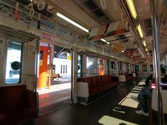 小田原駅で3日間有効の箱根フリーパスを購入し、箱根登山電車に乗り込みます。