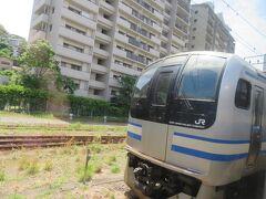 横須賀駅の留置線には廃車回送前のE217系が留置中でした。