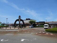 約30分で鶴岡駅に到着。2年前に月山に登ったとき以来。