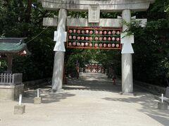 博多駅から歩いて10分程、筑前國一之宮 住吉神社へ着きました。 西門から入り、表参道を通り、本殿へ。 本殿は撮影禁止でした。