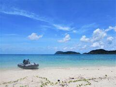 イダの浜に到着です。 ここはボートでしか行けない場所です。