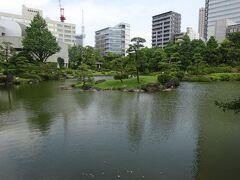 旧安田庭園(心字池と中島)