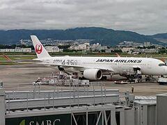 2021年7月2日(金) JAL2081便 伊丹08:55→沖縄那覇11:10 初めてのA350