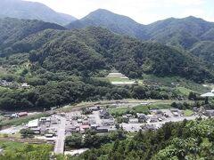 五大堂から山寺駅方面の眺め