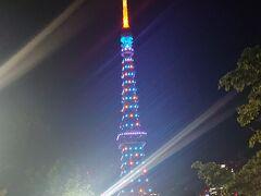 東京タワーも、オリンピックカラーです。