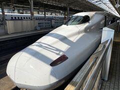 新幹線乗り場を間違えてひかりのホームに来ちゃった。 めんどくさいのでそのままひかりで帰ります。