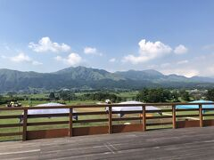 道の駅 あそ望の郷くぎので、お土産購入。 美しい南阿蘇からの五岳を眺めて、本日のお宿へ向かいます。
