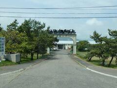 前を通っただけなのですが。  優駿の門。なんて。 いかにも馬が盛んなところの博物館だろう、ということで。