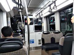 ホテルまでの帰路に途中から新しい市内電車(LRT)を使いました。
