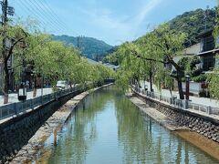 日和山と程近い城崎温泉で柳が良い感じでした。