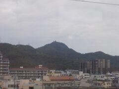 岐阜城が見えてきました。まだ訪れたことのないお城です。