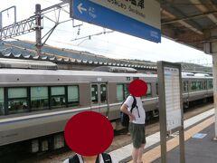 近江塩津駅に到着しました。ここで湖西線から来る敦賀行きに乗りかえます。  福井の大雨のピークは過ぎたようですが、午後から越美北線の運転が再開されるかは未定です・・・