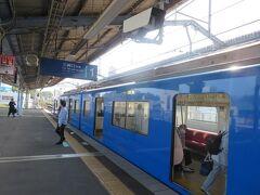600形の「KEIKYU BLUE SKY TRAIN」塗装車で三浦海岸駅に降り立ちました。