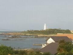 おはようございます。 窓から昨日行った野島埼灯台が見えます。