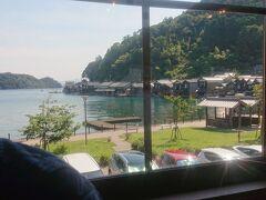 船着き場の前のレストランから、舟屋がよくみえます。