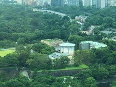 「皇居東御苑」内にある「江戸城本丸跡」をズームします。  生まれたときから東京に住んでいますが、 多分上空から見たのは初めてです。