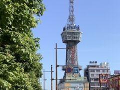 昨日歩いたアーケード街を通ってホテルまで戻りました。 ホテルのすこに先に別府タワー 小さいですが展望台もあります。