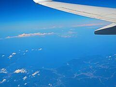 島根40 出雲空港 JAL280便  74/  45  山陰海岸