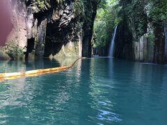 しばらく漕ぐと、真名井の滝が見えて来ました。