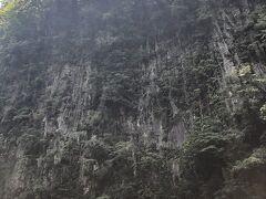 仙人の屏風岩 大迫力の柱状節理の崖です。