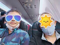 な、なんと搭乗口で宮古空港でよく出会うピンダ村ケンちゃんと再会! しかも二人で指定してた席に座ったら隣だった(爆)  空港遭遇率高過ぎます!
