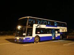 ★19:00 大垣の南西部にある養老SAに到着したのは19時。すっかり日は落ち、そろそろ長距離の夜行バスが走り出す時間になって来ました。