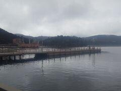 久しぶりの芦ノ湖。 雨なのが残念!