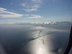 東京湾アクアラインの海ほたるが見えました(^_^)。