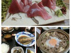 夜は喜楽へ。もしも売り切れてなければ焼き魚か煮魚定食を頼んでみてください。魚は日替わりですが安定して美味しいです。