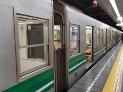 ●大阪メトロ コスモスクエア駅  僕にとっては、とっても馴染み深い中央線の車両。 グリーンのライン。 駅名の「コスモスクエア」は、なぜこんな名前?っていつも思うのですが、市民からの公募により決定されたそう。中国語書きにすれば「宇宙広場」(笑)。ちょっと面白いですね。