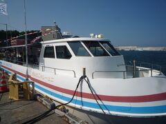 小樽に戻る途中、美国に寄り観光船から積丹の海を楽しみます。