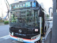 京浜東北線蒲田駅で下車して、鉄道の旅はおしまいです。  前日に続いて、蒲田駅からバスに乗って羽田空港へ向かいます。  燃料電池バス「SORA」車両でした。初めて乗ります。