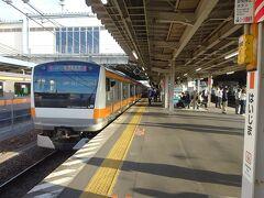 拝島駅で下車。 要するに、たまたま武蔵五日市行きに乗りました、というだけの話なのでした(笑)