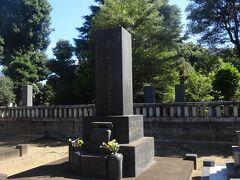 渋沢栄一墓所(今年のブームの日本経済を作った明治時代の実業家)