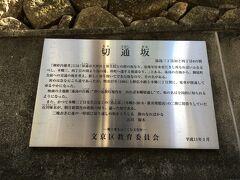 かつて石川啄木も通ったという切通坂を上っていきます。