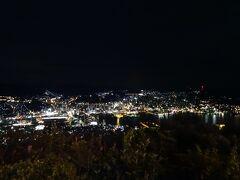 さて、ここからは、稲佐山の山頂から見た長崎の夜景です。 うまく撮影できたものを数枚掲載します。