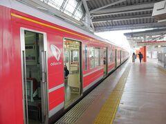 また小田原駅まで戻ってきました! 今度は、赤い1000形に乗ります(*≧∀≦)