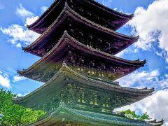 『五重塔』(国宝)  730年に藤原不比等の娘、光明皇后の発願で建立され、現在の塔は1426年に再建されたものだそうです(^^)
