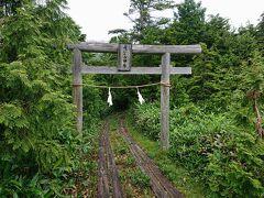 ここは、志賀山方面と大沼池方面の分岐があります。 鳥居方面に進むと志賀山です。 今回は大沼池に向かいます。