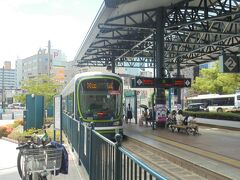横川駅から「広島電鉄」で原爆ド-ム前に向かいます ★7号線 横川-広電本社前 乗車 すると 原爆ド-ム前に行けます