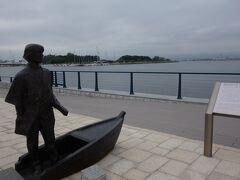 新島襄ブロンズ像。
