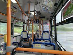 そして時間通りにバスが来たときはほっとした。 本当にこんなところで悪天候でバス運休とかになったら…途方に暮れてたと思う。 ちなみに乗客は私一人。 貸し切りバス状態(笑)。